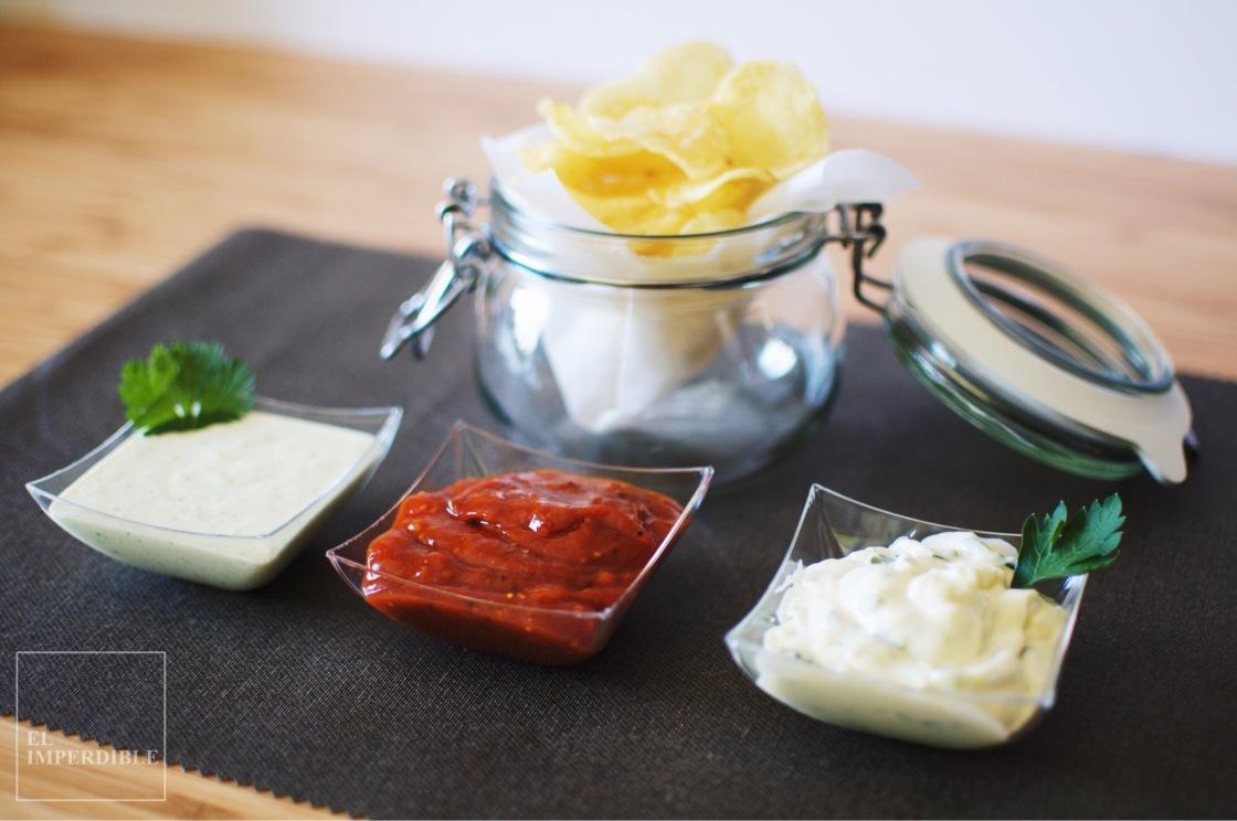 Receta de Salsa casera para patatas fritas salsas caseras