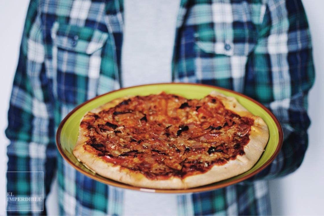 cómo hacer Pizza sin gluten en casa receta rápida y sencilla