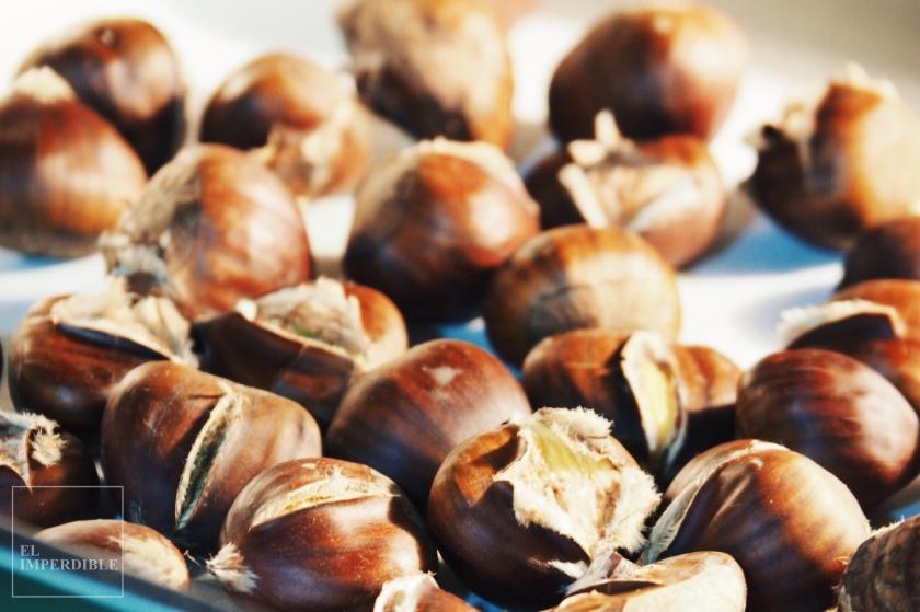 cómo asar castañas en casa receta