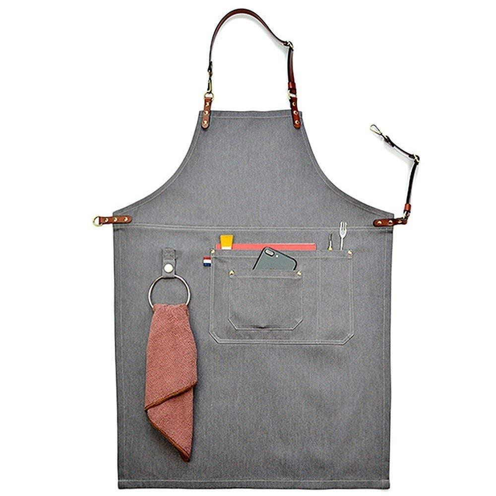 delantal cuero vaquero - regalos para los que les gusta comer y cocinar