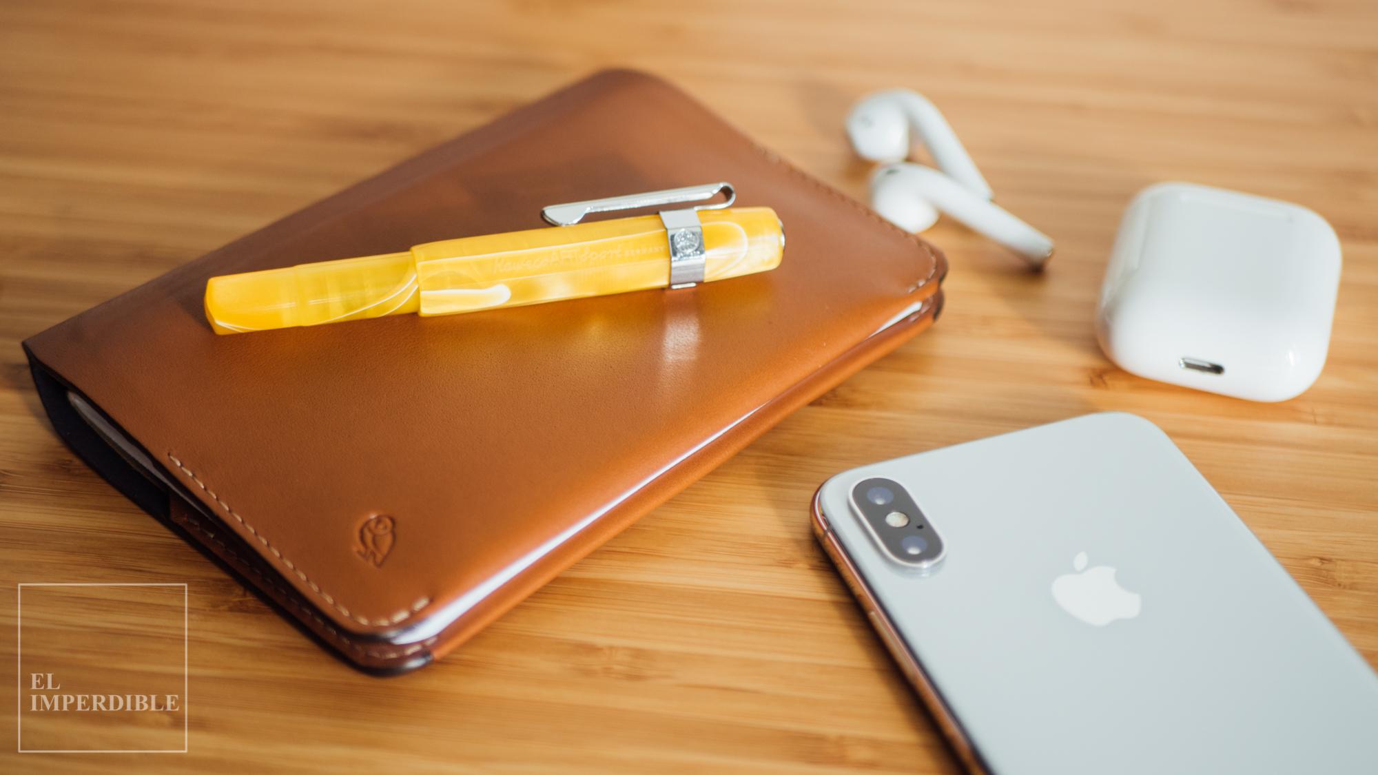 Cómo limpiar una pluma estilográfica desatascar la tinta seca Kaweco Sport artsport bellroy fieldnotes iphone xs