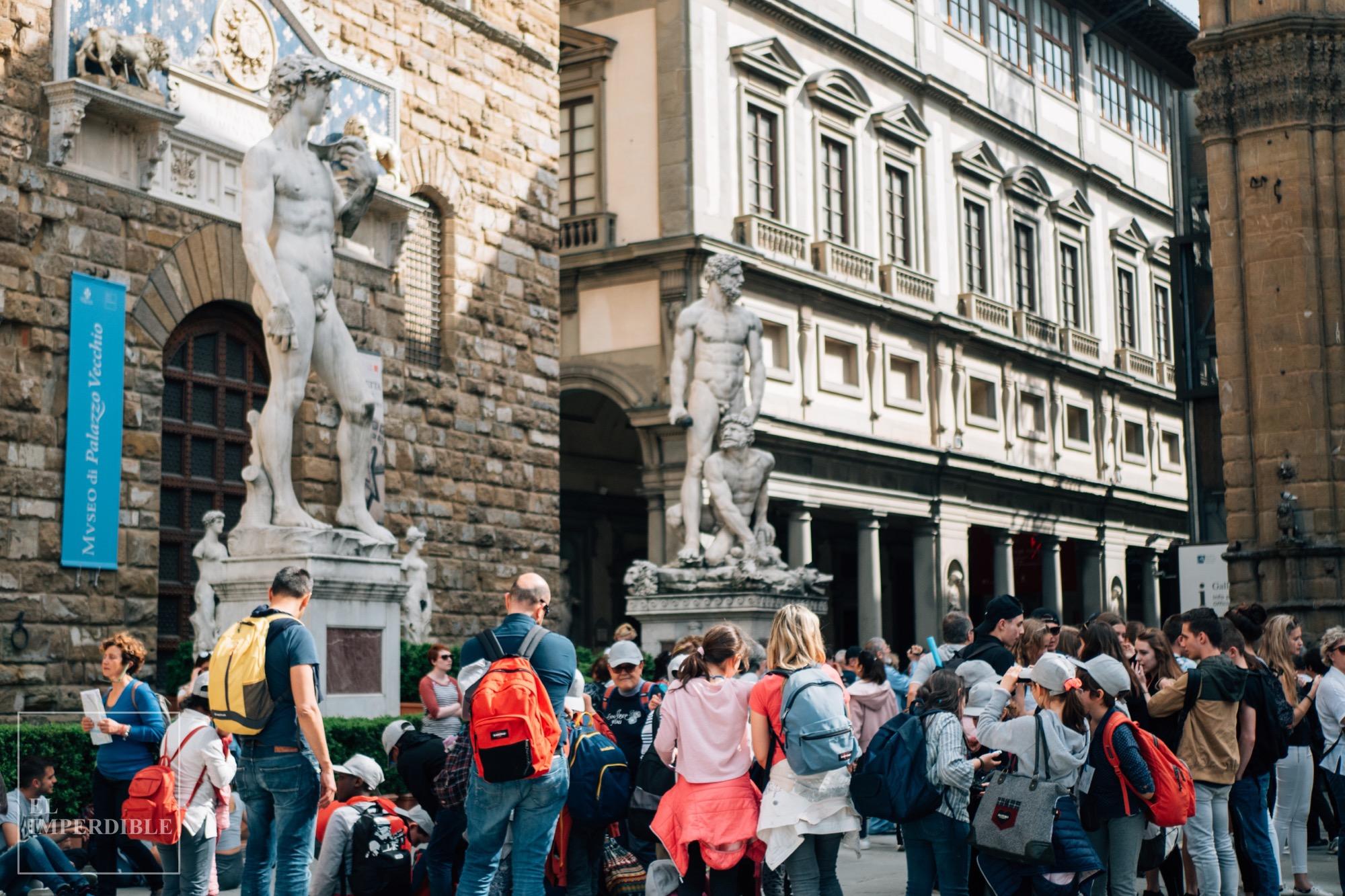 Lugares que ver en Florencia Palazzo Vecchio Galeria degli Uffizi David Miguel Ángel