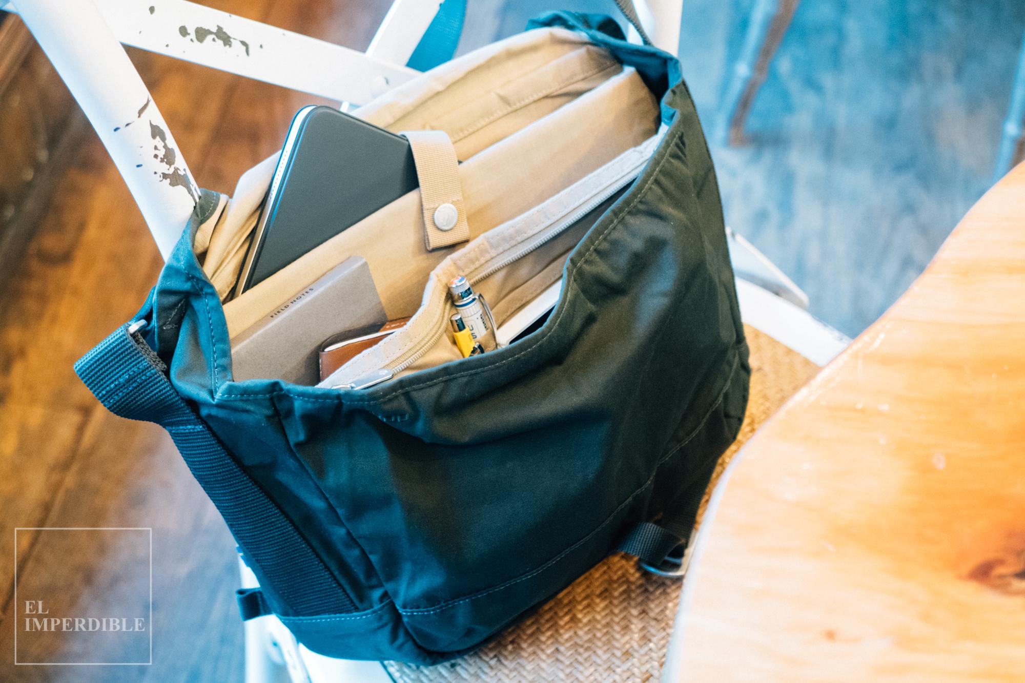 Qué llevo en mi mochila de trabajo Fjallraven Fjällräven Greenland Shoulder bag