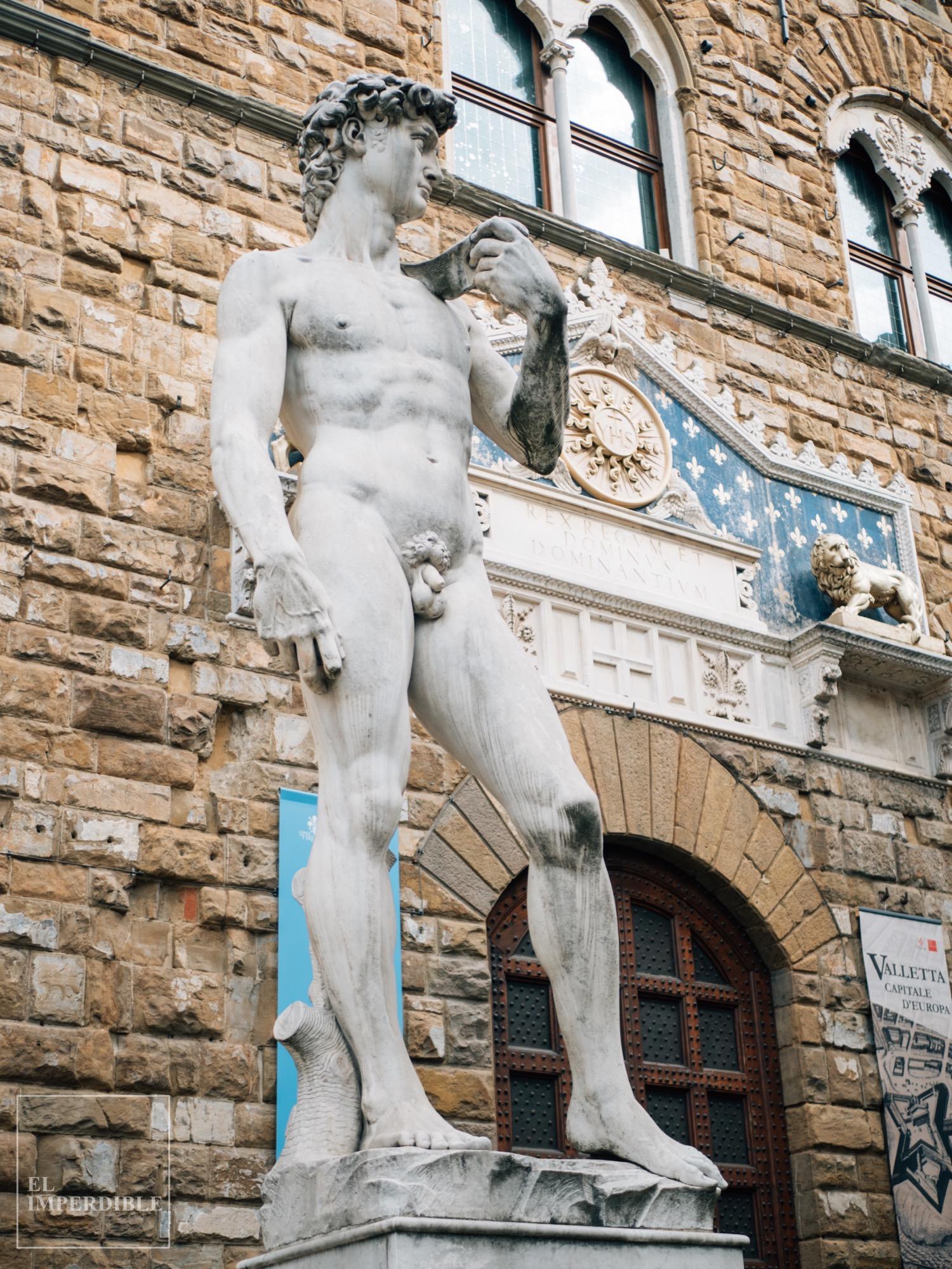 Lugares que ver en Florencia Galeria degli Uffizi David Miguel Ángel